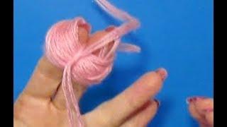 как сделать помпон на пальцах?