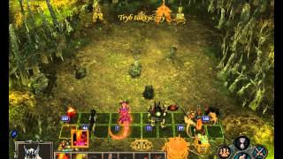 Heroes of Might & Magic 5 multiplayer - Game 3 (Inferno vs Dungeon) Massacre