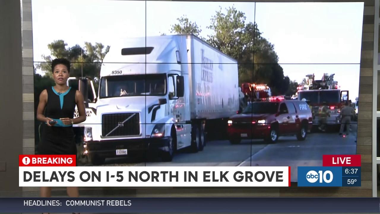 ELK GROVE FATAL CRASH 630AM LIVE SHOT 07-26-17