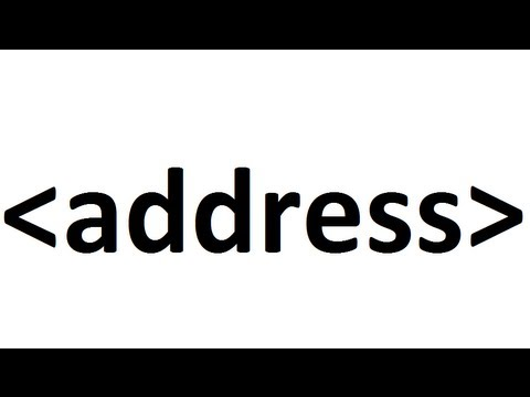 Learn HTML Code: Address