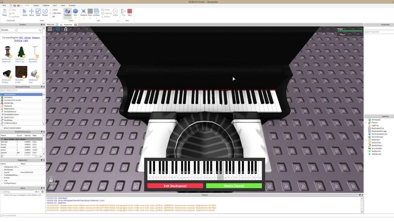 ROBLOX's Playable Virtual Piano (Brief Showcase/Tutorial)