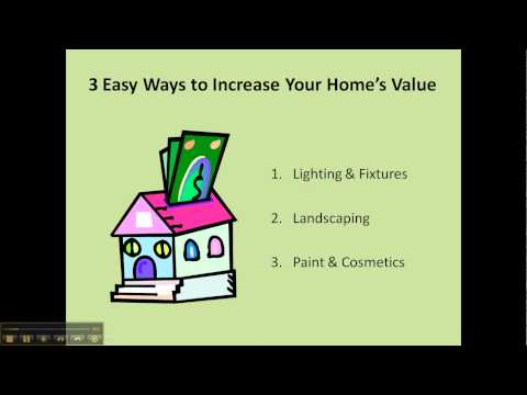 How To Improve The Value Of Your Home: 3 Quick Fixes to save you money.
