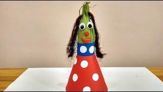 Поделки из овощей своими руками. Как сделать куклу из кукурузы и бумаги.