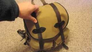 Filson Rucksack - packing demo 3 days worth of clothes in this fantastic backpack