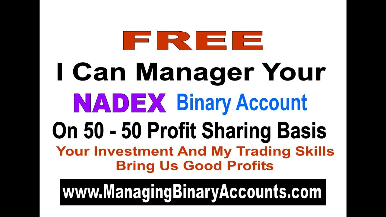 Binary options demo account nadex