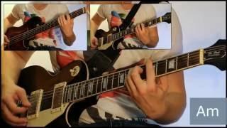 Как играть на гитаре Лесник - Король и шут  ( видеоурок Guitar riffs) + табы