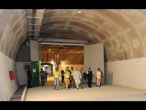PM Modi visits to Chenani-Nashri Tunnel