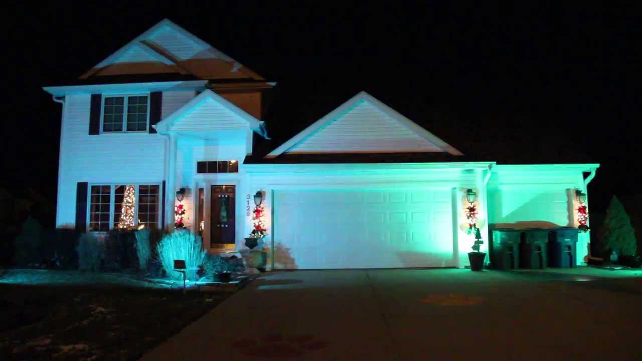 Christmas Decorating With Floodlights : Led rgb christmas flood lights