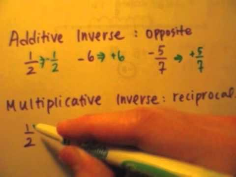 Additive & Multiplicative Inverse