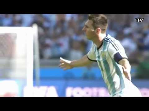 Lionel Messi - Amazing Curve Goal vs Iran - WORLD CUP 2014