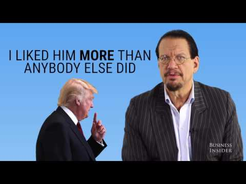 Penn Jillette reveals what it was like to work with Donald Trump