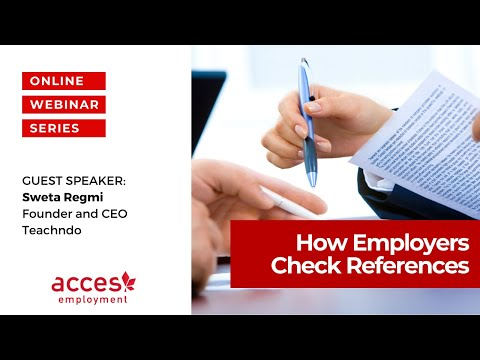 How Employers Check References