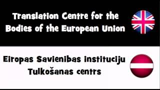 Say it in 20 languages # Translation Centre for the Bodies of the European Union