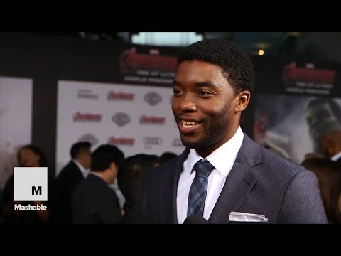 Mashable talks to 'Black Panther' Star Chadwick Boseman at 'Age of Ultron' premiere | Mashable