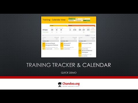 training tracker and calendar in excel quick demo youtube