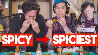 We Sang LOVE Songs While Eating SPICY WINGS 🌶(*Don't try this at home*)