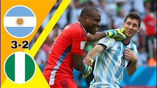 مباراة جنونية/ الأرجنتين ~ نيجيريا 3-2 كأس العالم 2014 وجنون رؤوف خليف جودة عالية 1080i