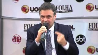 Aécio Neves em sabatina da Folha de São Paulo (1ª parte)