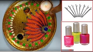 Diya thali decoration ideas