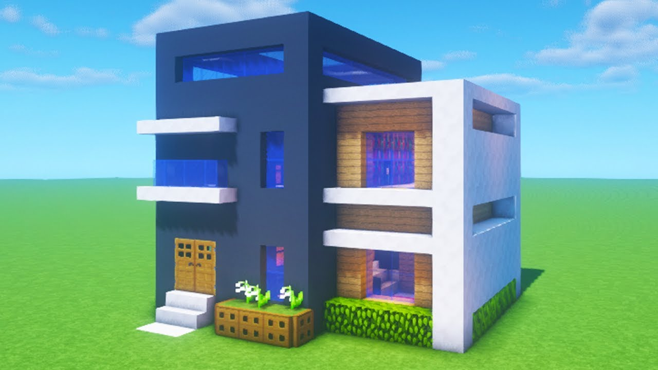 """Minecraft Tutorial: How To Make A Modern House 1 """"2020 ..."""