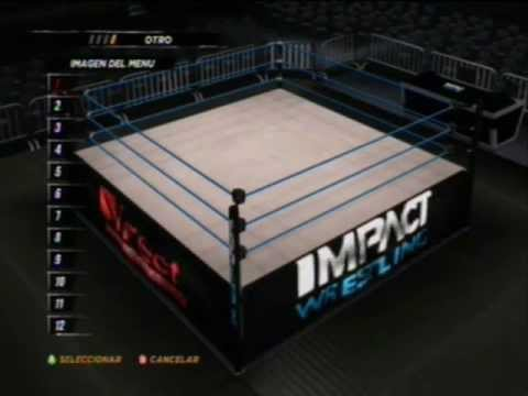 wwe 12 create a arena tna impact wrestling ring all logos