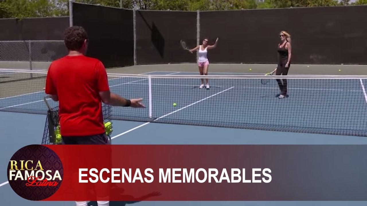 NADA COMO ACLARAR LAS COSAS DESPUES DE UN JUEGO DE TENNIS  Rica Famosa Latina | Escenas Memorables
