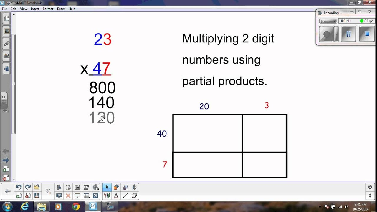 2 Digit Multiplication With Only Partial Products