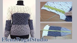 Уютный вязаный спицами свитер. Презентация мастер класса вязания №119