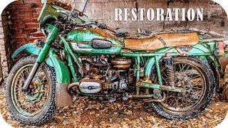 "Rusty USSR Giant Motorcycle RESTORATION | Abandoned Engine Restoration | Soviet ""URAL"" from 1986"