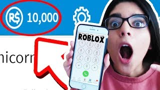 CALLING ROBLOX FOR FREE ROBUX!