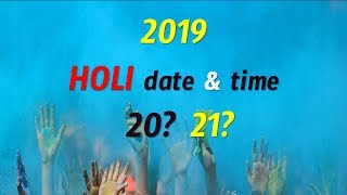 Holi Date and Time  2019 || Holi Festival 2019 || Holi 2019 || Date and Time || V Prasad Health...
