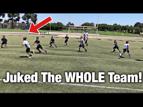 HE JUKED THE WHOLE TEAM! | YOUTH FLAG FOOTBALL GAME NFL PLAY 60