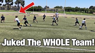 Download HE JUKED THE WHOLE TEAM!   YOUTH FLAG FOOTBALL GAME NFL PLAY 60