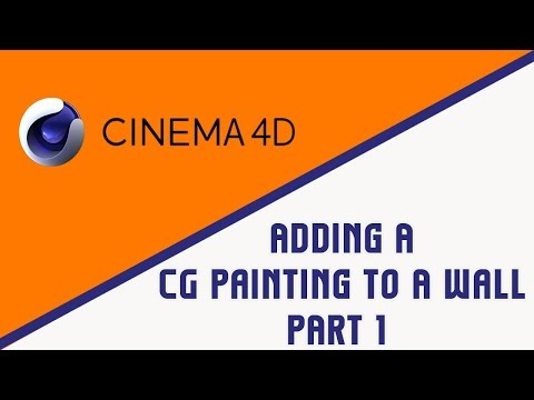 Cinema 4D | Chapter 1 | Adding A Cg Painting To A Wall | Part 1