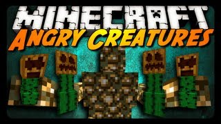 Minecraft Mod Review: ANGRY CREATURES MOD! (Glowstone Monster, Mutated Cactus & More!)