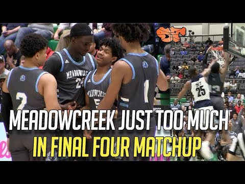 MEADOWCREEK JUST TOO MUCH IN FINAL FOUR MATCHUP