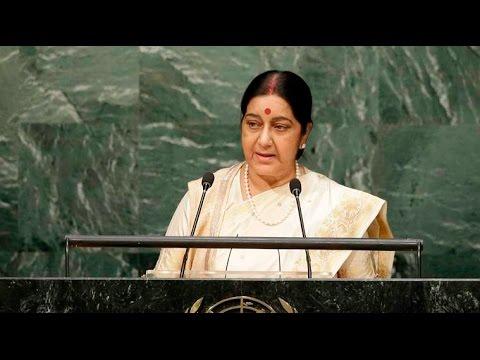 Sushma Swaraj gives stern response to Nawaz Sharif: Give up