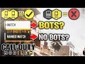 "COD Mobile PC! the TRUTH about Matchmaking and ""BOT"" Lobbies (Call of Duty Mobile Controller vs PC)"