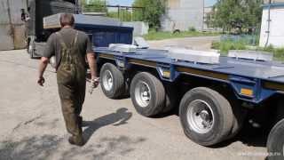 Раздвижной трал (полуприцеп тяжеловоз 80 тн)(Семиосный полуприцеп позволяет перевозить длинномерные несущие грузы длиной до 30 метров и массой до 80..., 2013-10-18T03:11:00.000Z)
