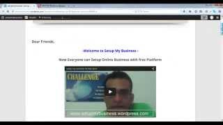 Setup My business-Continue part-2) tamil  /Earn money online in tamil for beginner 2015