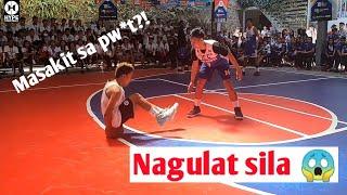 COLLEGE VARSITY! NAGULAT SILA NG UMUPO AKO SA BOLA (MASAKIT BA SA PW*T?) - Basketball Highlights