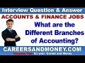 What are the Different Branches of Accounting?   Accounting and Finance Job Interview Q & A