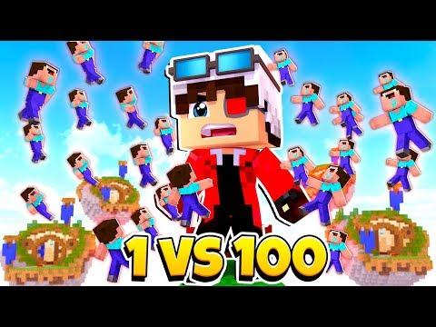 1 ПРОТИВ 100 БЕДВАРС С БОССОМ ВОЗМОЖНО ЛИ ВЫИГРАТЬ Minecraft BedWars 1vs100