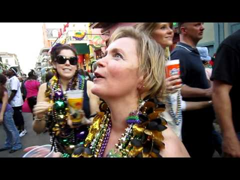Getting Mardi Gras Beads!