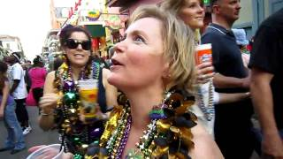 Getting Mardi Gras Beads!