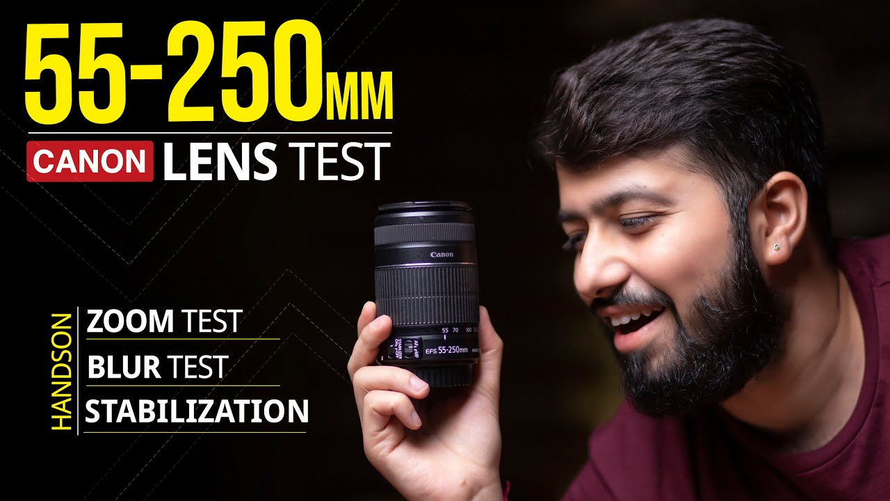 Canon EF-S 55-250mm 1:4-5,6 IS STM lens unboxing, setup and sample photos