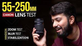 Canon 55-250mm Zoom Lens Review Photo amp Video Test Hindi