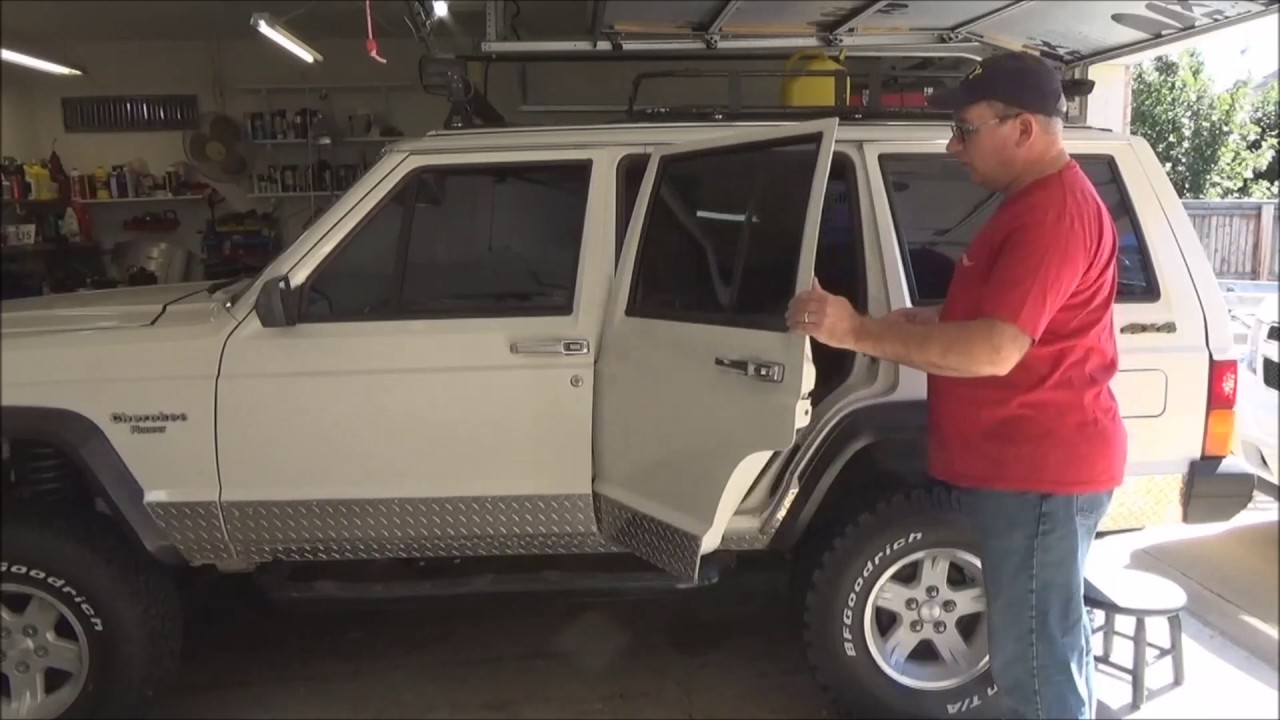 Jeep Cherokee Xj Rear Door Window And Weather Seal Upgrade