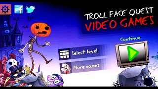 Troll Face Quest Video Games All POKEMON & Spiders Secrets Halloween IOS ANDROID Walkthrough