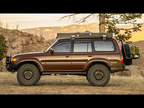 80 Series Land Cruiser Overland Build - Brown LLOD FZJ80 With A GFC Rooftop Tent Walk-around